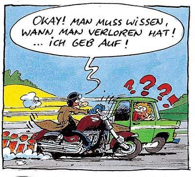 Motorradfahren Geil by Trabbi