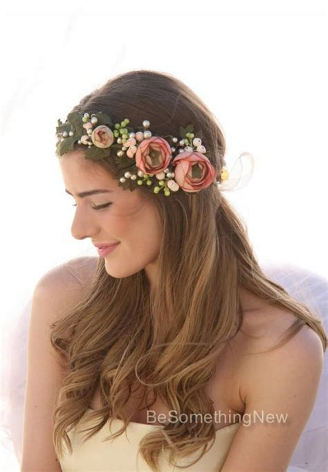 Wedding Hair Wreath Of Flowers by Pink Wedding Pink Wedding Flower Crown 2236107 Weddbook