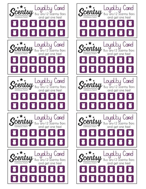 scentsy loyalty card template best 25 scentsy ideas on scentsy independent