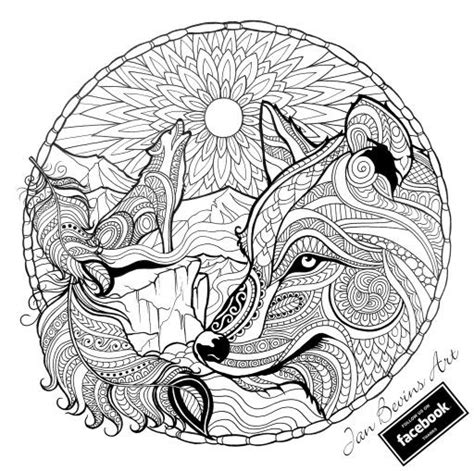 printable wolf coloring pages for adults 11 best images about colouring pages on pinterest wolves