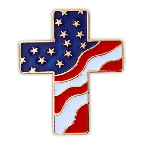 American Cross american flag cross pin pinmart