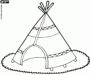 Native North American Indians Coloring Pages Printable Games Teepee Coloring Pages