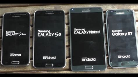 Samsung Galaxy Note 4 Vs Samsung Galaxy S5 Samsung Galaxy S7 Vs Note 4 Vs S5 Vs S5 Mini Benchmark Test