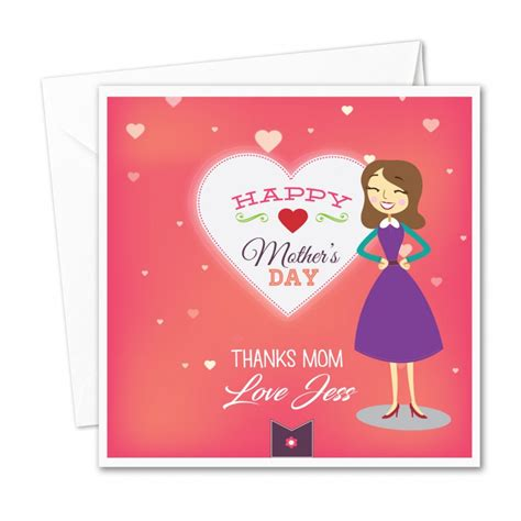 personalised wedding cards next day delivery personalised mothers day card thanks