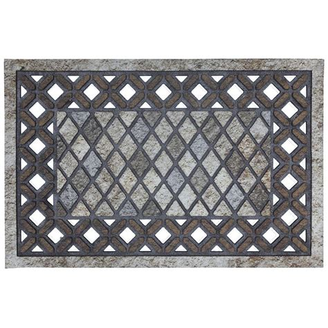 Door Mats Home Depot by Mohawk Home 23 In X 35 In Recycled Rubber