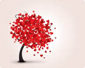 lovely tree vector graphic valentine hearts love