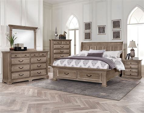 driftwood bedroom furniture woodlands sleigh storage bedroom set driftwood vaughan