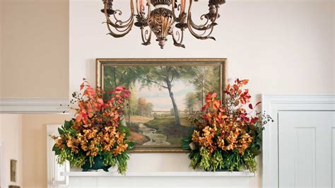 southern living fall decor mantlepiece arrangement fall decorating ideas southern