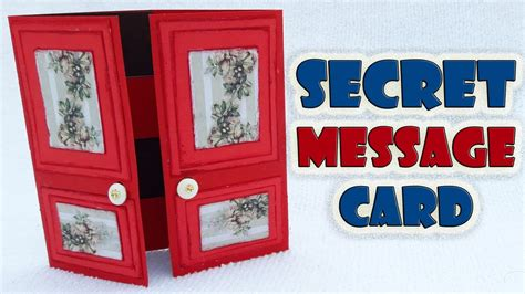 how to make a secret message card secret message card secret door card tutorial by