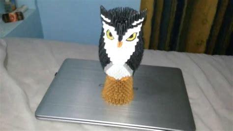 origami 3d owl tutorial owl origami 3d youtube