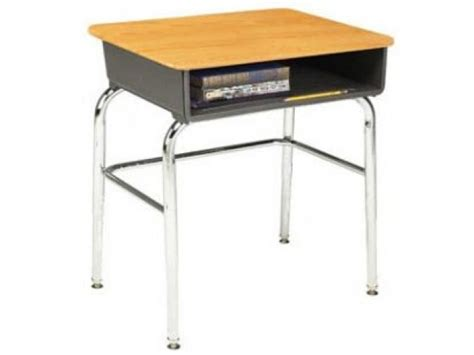 Open Front School Desk Woodstone Top U Brace Acf School Desks For