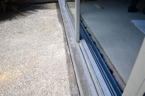 Patio Door Threshold Sliding Glass Door Threshold Jacobhursh