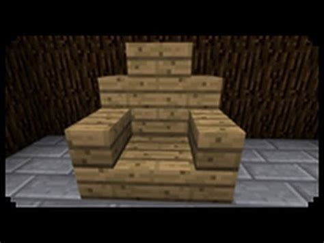 How To Make Chairs - minecraft how to make a throne