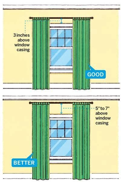 Properly Hang Curtains Decorating Key Preparation For A Successful Home Remodeling Project