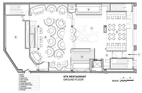 Floor Plans 2000 Square Feet stk restaurant revamp interior design