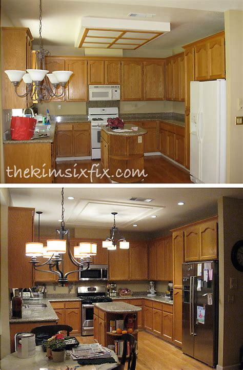kitchen light box hometalk replacing updating fluorescent ceiling box