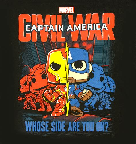 Funko Pop Tees Captain America Marvel Captain America 3 Civil War funko pop marvel collector corps captain america 3 civil war t shirt new your solution for