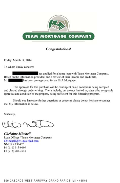 Mortgage Loan Approval Letter Pre Qualification Letter For A Mortgage Buy Original