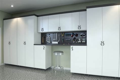 Garage Cabinets White Melamine 29 Garage Storage Ideas Plus 3 Garage Caves