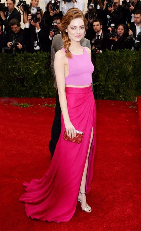 emma stone pink dress celebrity style fashion trends