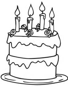 birthday cakes simple birthday cake coloring page