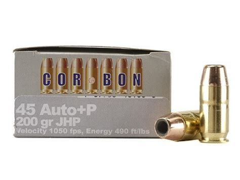 cor bon self defense ammo 45 acp p 200 grain jacketed