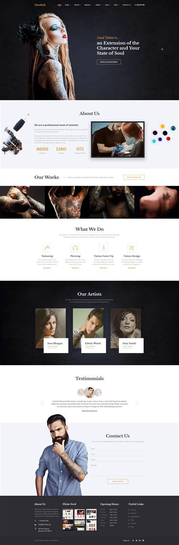 Tattoo Salon Responsive Website Template 59091 Spa Responsive Website Template Free