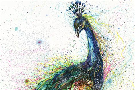 animal painting explosive splattered ink animal paintings by hua tunan