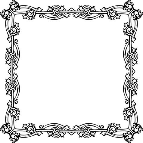 victorian pattern frame victorian vintage floral 183 free vector graphic on pixabay