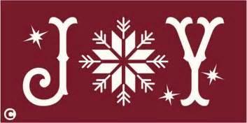 primitive stencil joy with snowflake christmas winter