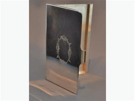 Sterling Silver Business Card Holder Engraved
