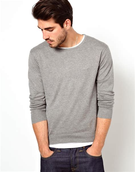 Diindri Royal Cardigan 2 1 Grey lyst gant rugger sweater with crew neck in gray for