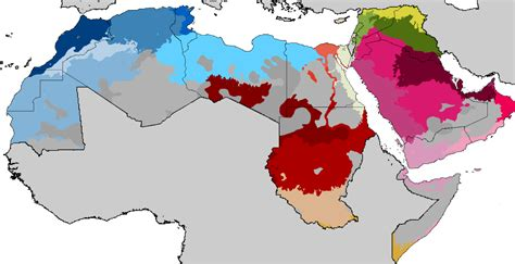 arb maps map of arabic dialects the gulf
