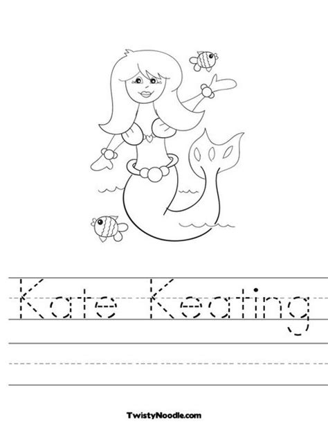 coloring pages of the name kate 101 best images about mermaid theme on pinterest