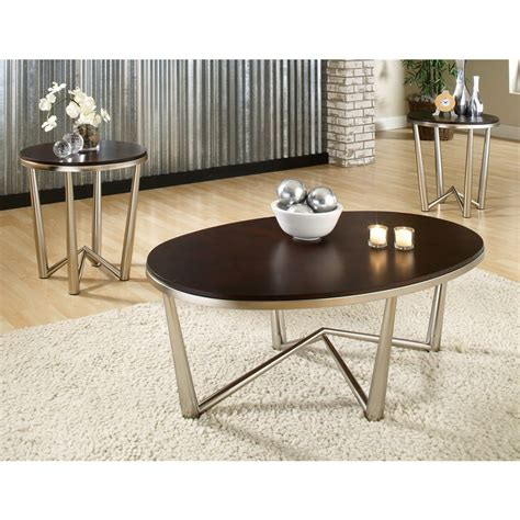 brushed silver table shop steve silver company cosmo espresso brushed nickel