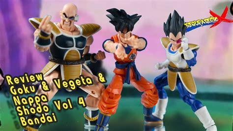 Shodo 4 Vegeta Bandai review goku vegeta nappa shodo vol 4 z