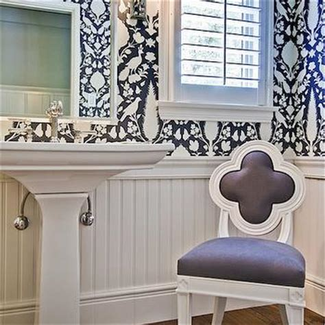 Bathrooms Schumacher Shantung Silhouette Print Smoke   Design, decor, photos, pictures, ideas