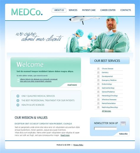 templates for medical website medical website template web design templates website