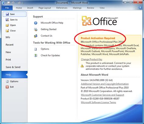 how to check microsoft office 2010 activation overclock