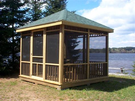 screen room plans how to create a comfortable gazebo at home home garden