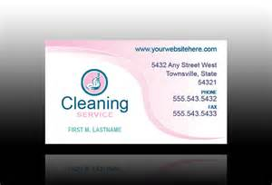 business card services cleaning services business cards sles