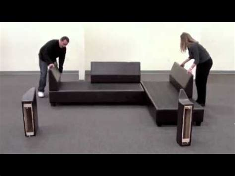 sofas that can be assembled sacramento sectional sofa reversible assembly youtube