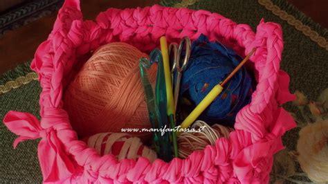 fiori all uncinetto con fettuccia cestini uncinetto fettuccia portatutto manifantasia