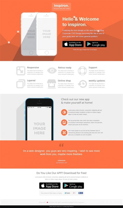 22 Best Unbounce Landing Page Templates Full Page Previews Best Landing Page Templates