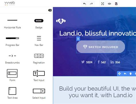 jquery ui layout builder online webpage builder with jquery and bootstrap vvvebjs