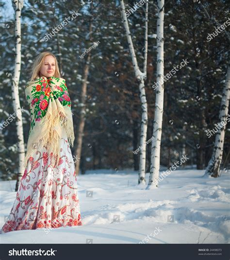 beautiful in russian beautiful in russian national clothes in