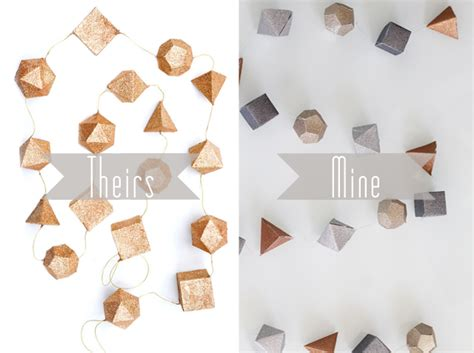How To Make 3d Shapes Out Of Paper - di fr yday leif inspired glittery metallic geometric