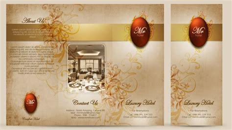 create a tri fold restaurant brochure photoshop tutorial create a tri fold hotel brochure cover photoshop tutorial