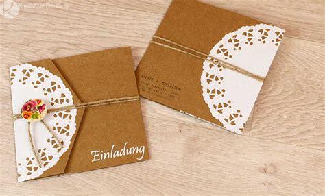 Hochzeitseinladung Kreativ by Kreativ Oder Primitiv Einladungskarten Zur Hochzeit