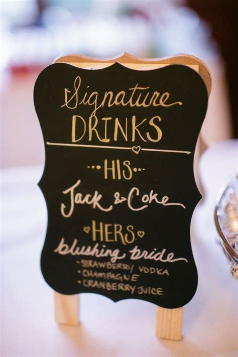 17 best ideas about signature drink signs on pinterest